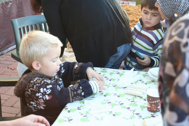Making his first sigara böreği.