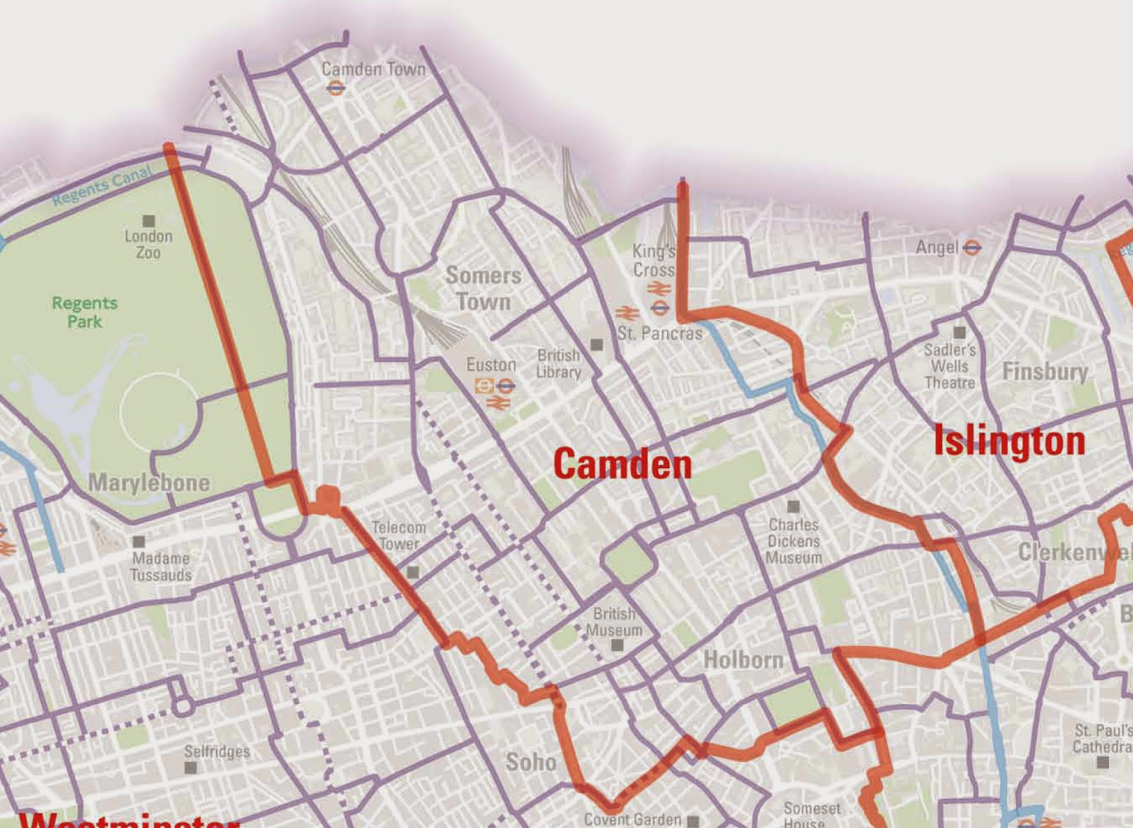 London borough camden boundaries in dating