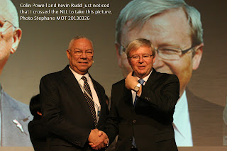 Colin Powell and Kevin Rudd