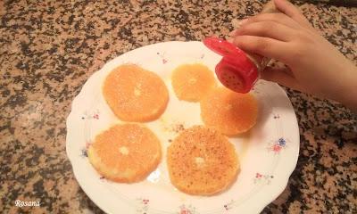 ponemos canela en la naranja