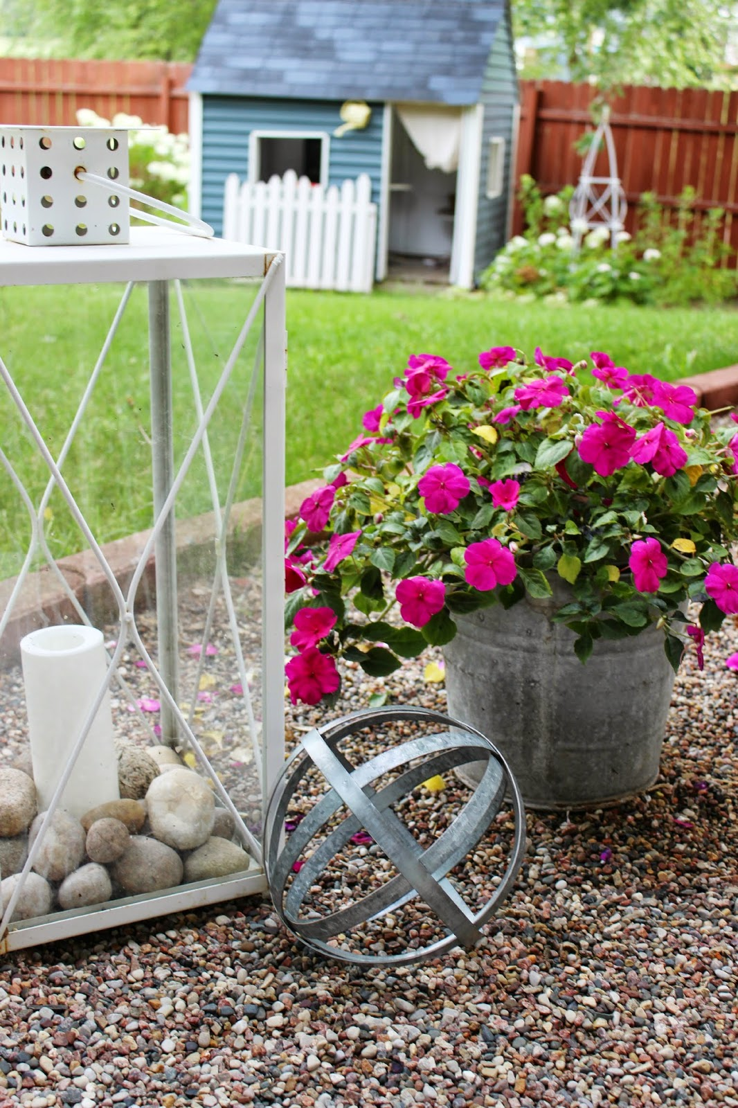 Happy at home container gardening in galvanized buckets - Galvanized containers for gardening ...