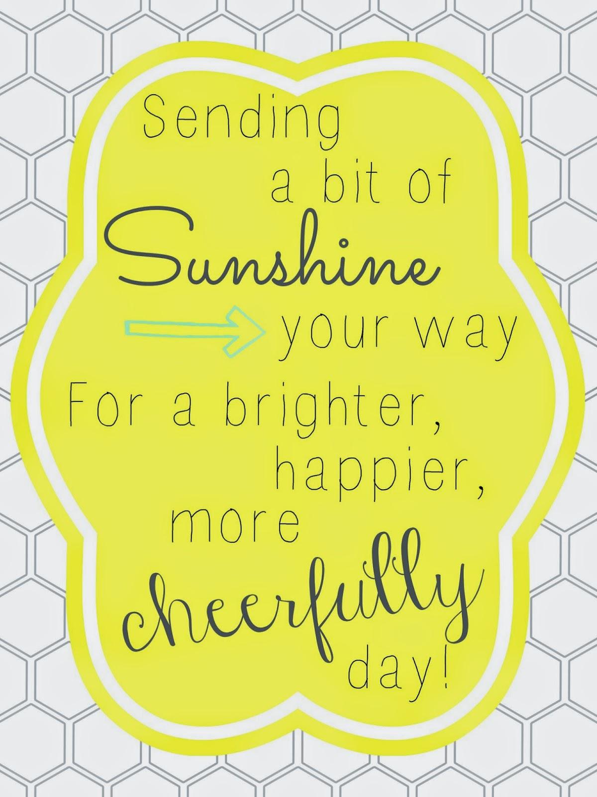Image result for sending sunshine your way