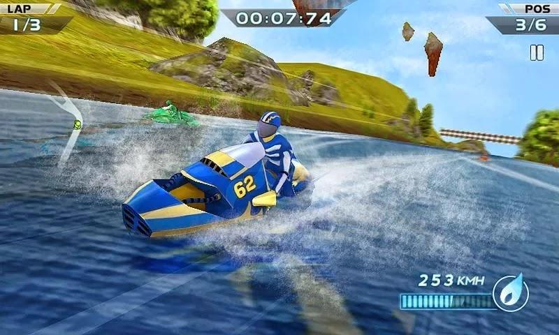 Android Motorlu Tekne Yarışı 3D Apk resimi 1