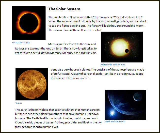 solar system spelling words - photo #25