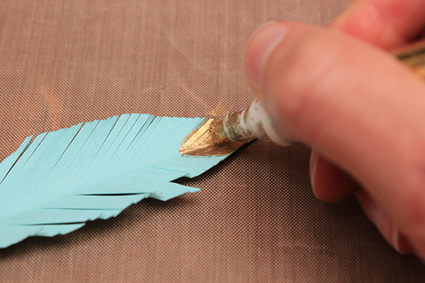 Gold Tipped Feathers Tutorial 4