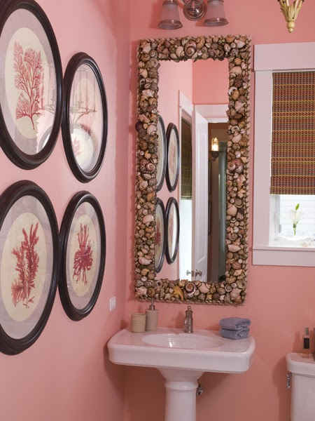 beautiful bathroom with coral