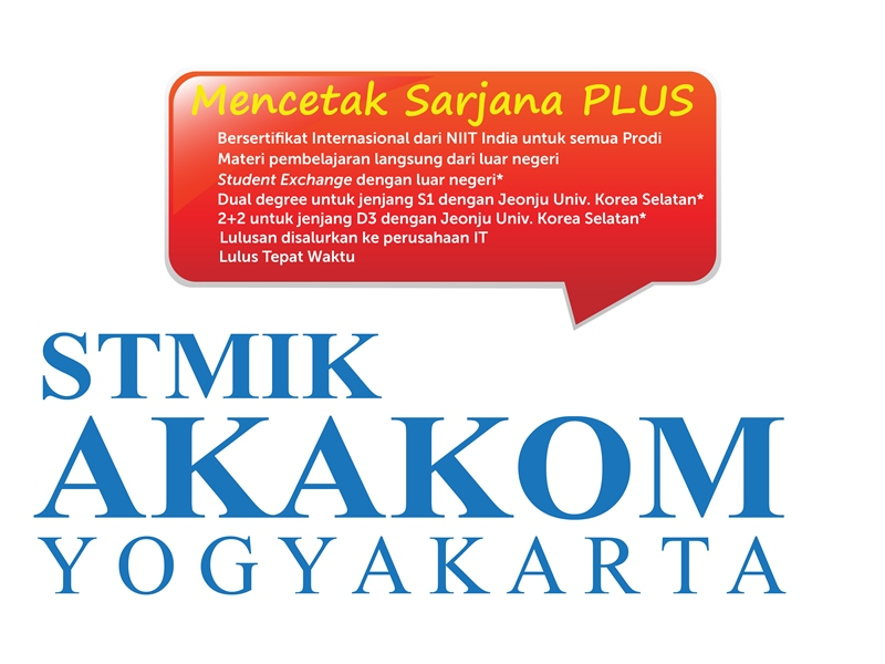 Pendaftaran STMIK Amikom Yogyakarta 2016/2017