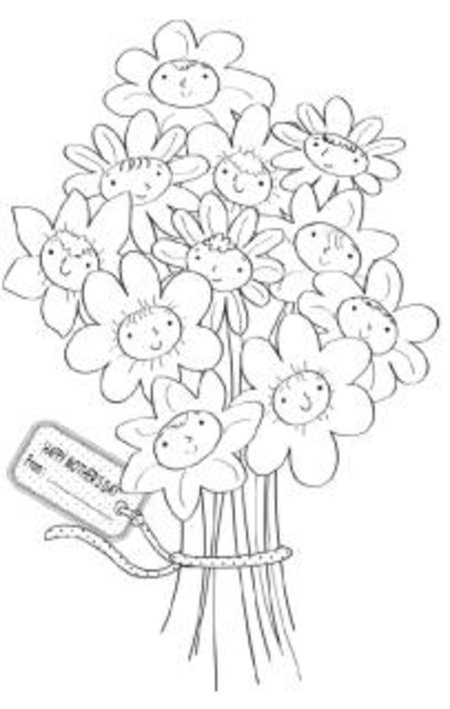 Mothers Day Card Coloring Pages title=
