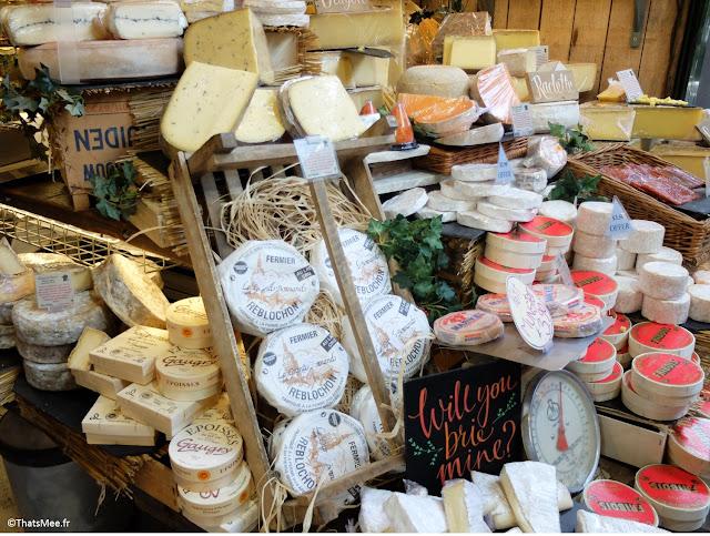 stand fromage au Borough Market marché couvert food gastronomie Londres