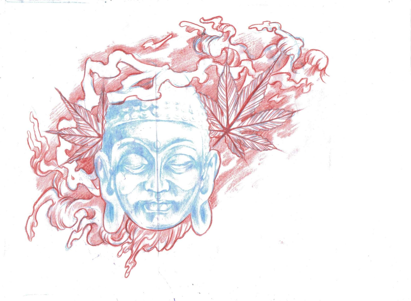 "Japanese Buddha With A Stylized Feel Of &Quot;afro Samurai"" The Style Will"