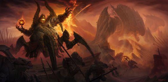 John Polidora ilustrações arte conceitual fantasia games blizzard Diablo 3 - Azmodan