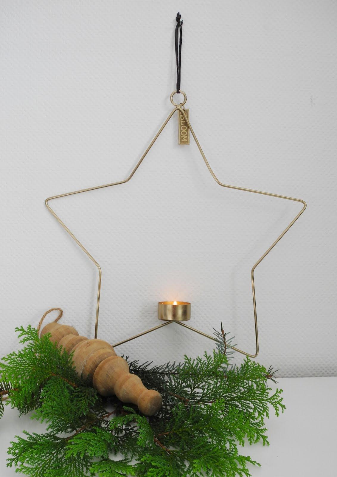 Świecznik do zawieszenia w kształcie gwiazdy GOLD