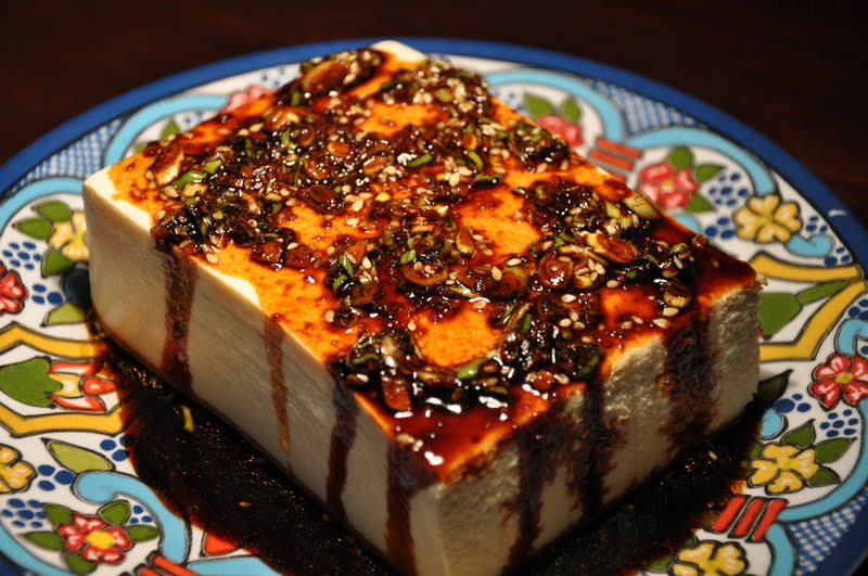 Slice of Rice: Warm Tofu with Spicy Garlic Sauce and ...
