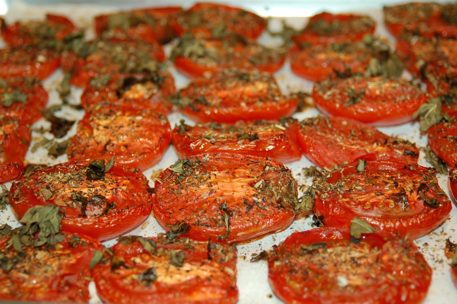 ... slow roasting, your tomatoes will look slightly caramelized like this