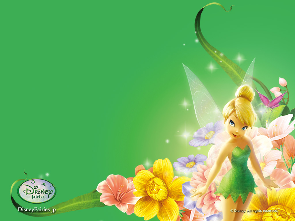 Tinker Bell Disney Birthday Background