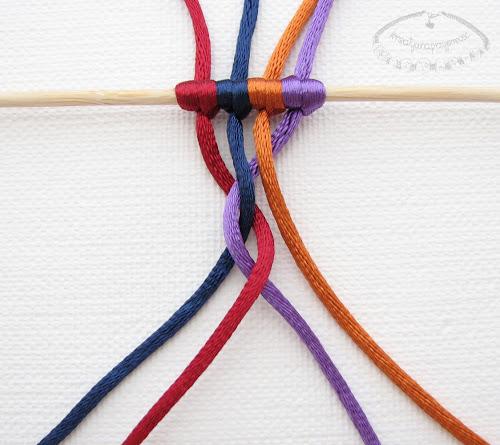 warkocz z czterech sznurków 5