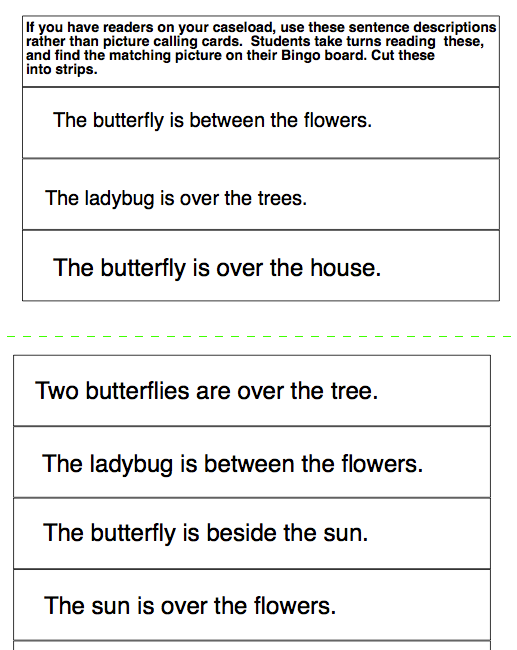 picture about Sentence Strips Printable known as Chapel Hill Snippets: Butterfly Bingo---printable and cost-free