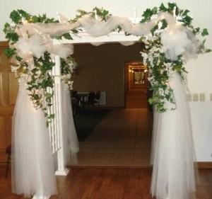 Arcos de flores para iglesias