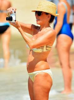 Alan Shearer wife Lainya Gold Bikin Barbados