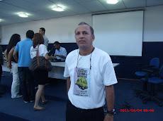 O prof. Adailton  no Seminário Visões do Mundo Contemporâneo
