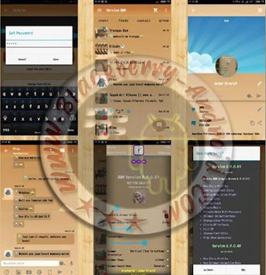 BBM Mod Simple Brown Color Terbaru v2.9.0.51 Backup Free Sticker