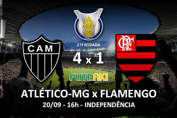 Veja o resumo da partida com os gols e os melhores momentos de Atlético-MG 4x1 Flamengo pela 27ª rodada do Brasileirão 2015.
