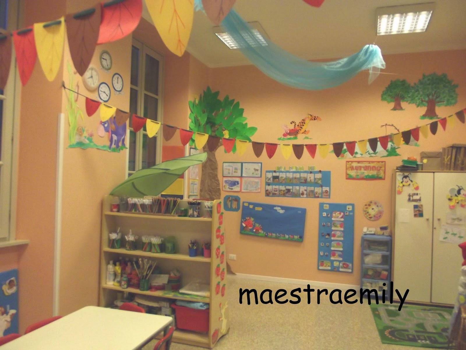Maestraemily preparativi per l 39 autunno for Addobbi autunno scuola infanzia