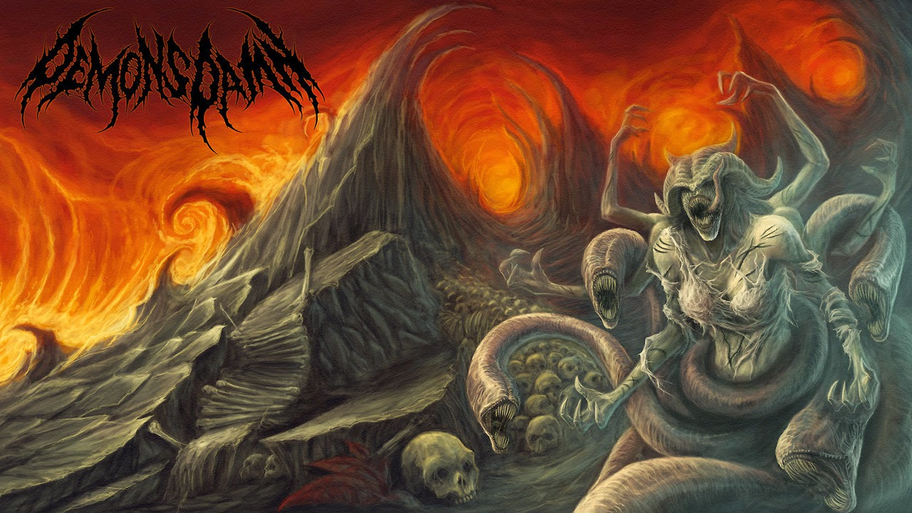 Demons Damn Band Death Metal Indonesia Album Cover Artwork
