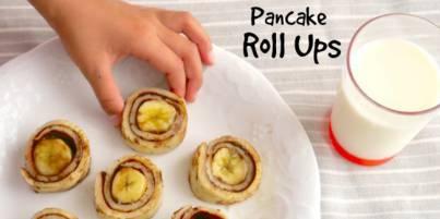 enak cocok banget untuk si kecil yang tak mau sarapan Resep Pancake Roll-Up Untuk Sarapan Kaya Gizi