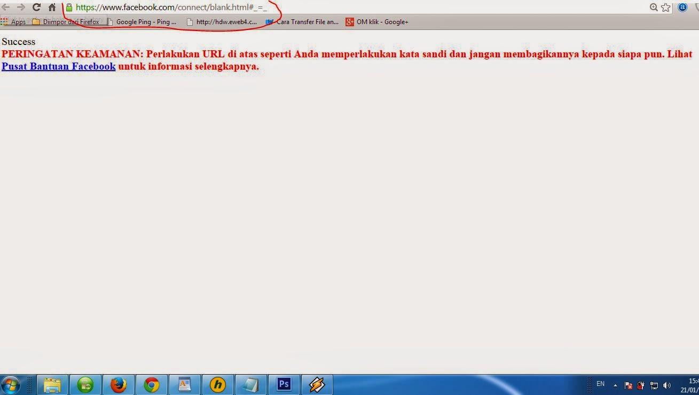 Redirect halaman access token