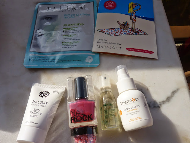 talika, masque en tissus, protecteur solaire, thermaliv, vernis à ongles, nail rock, melvita, huile, naobay lotion corp