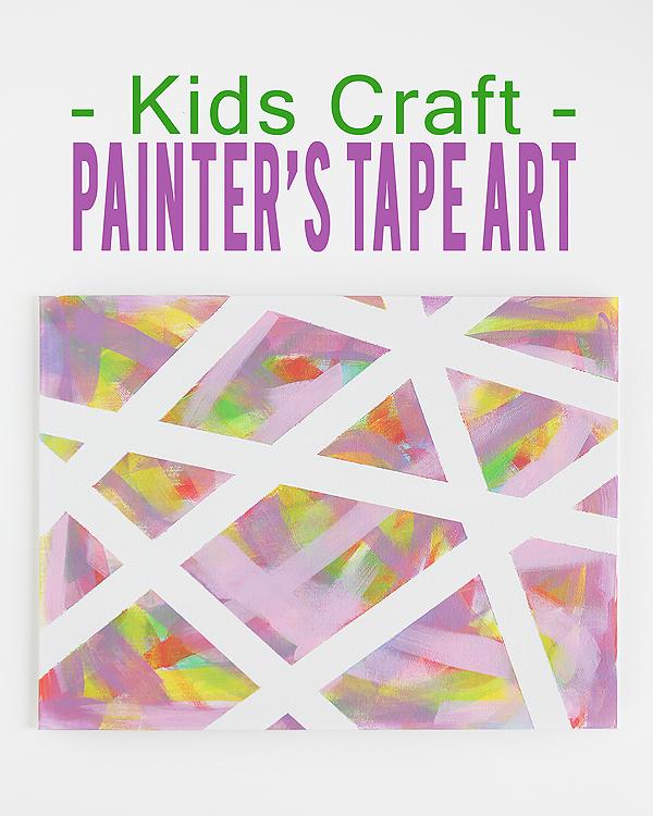 Painter's Tape Art - Kids craft! Featured on Design Dazzle