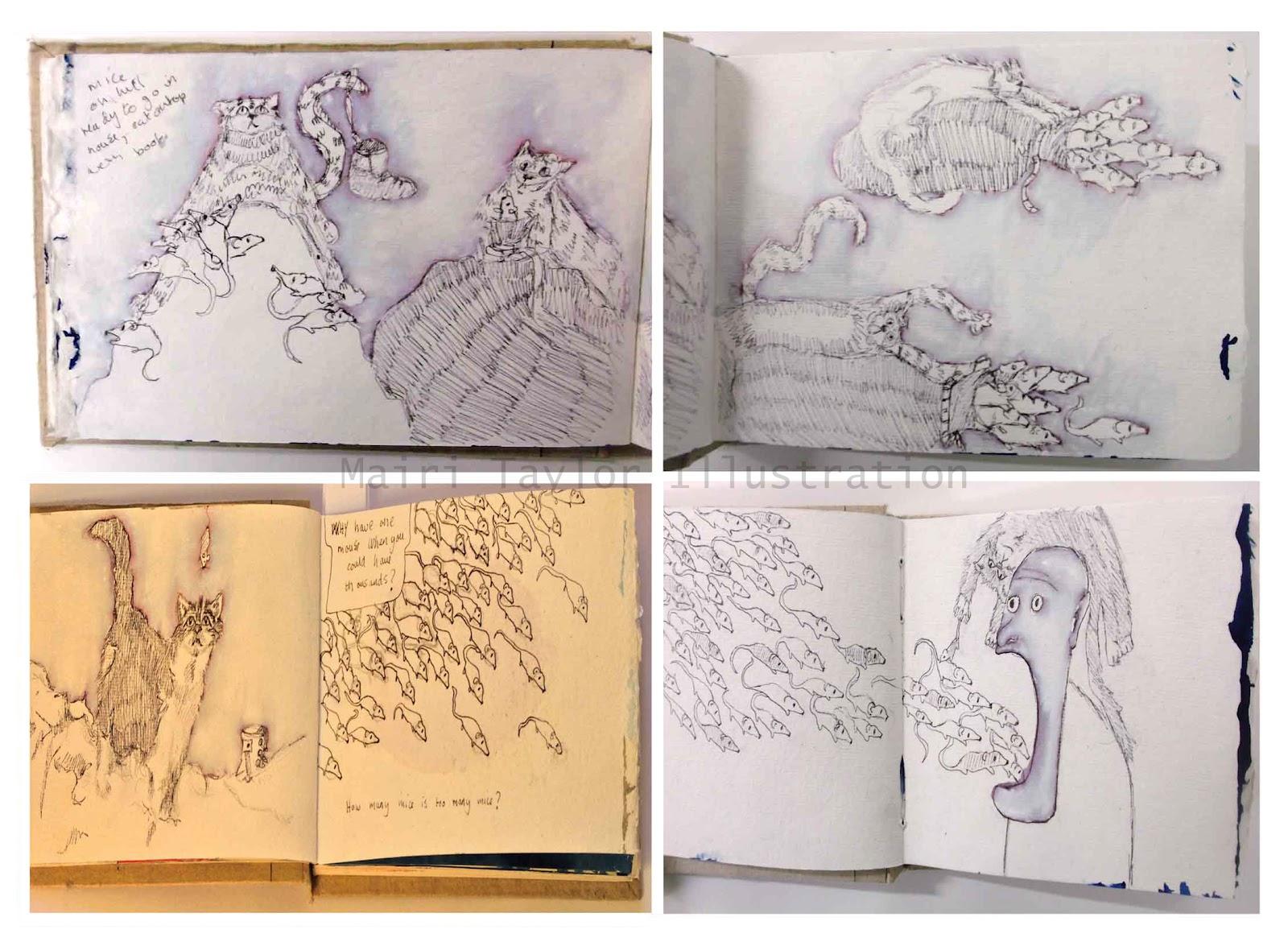 Mairi Taylor Illustration HND U0026#39;The Bloody Chamberu0026#39; Sketchbook Ideas