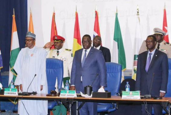 image Buhari at 48th ordinary session of the ECOWAS Authority of Heads of States