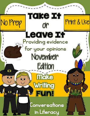 Take It or Leave It Opinion Writing with Evidence