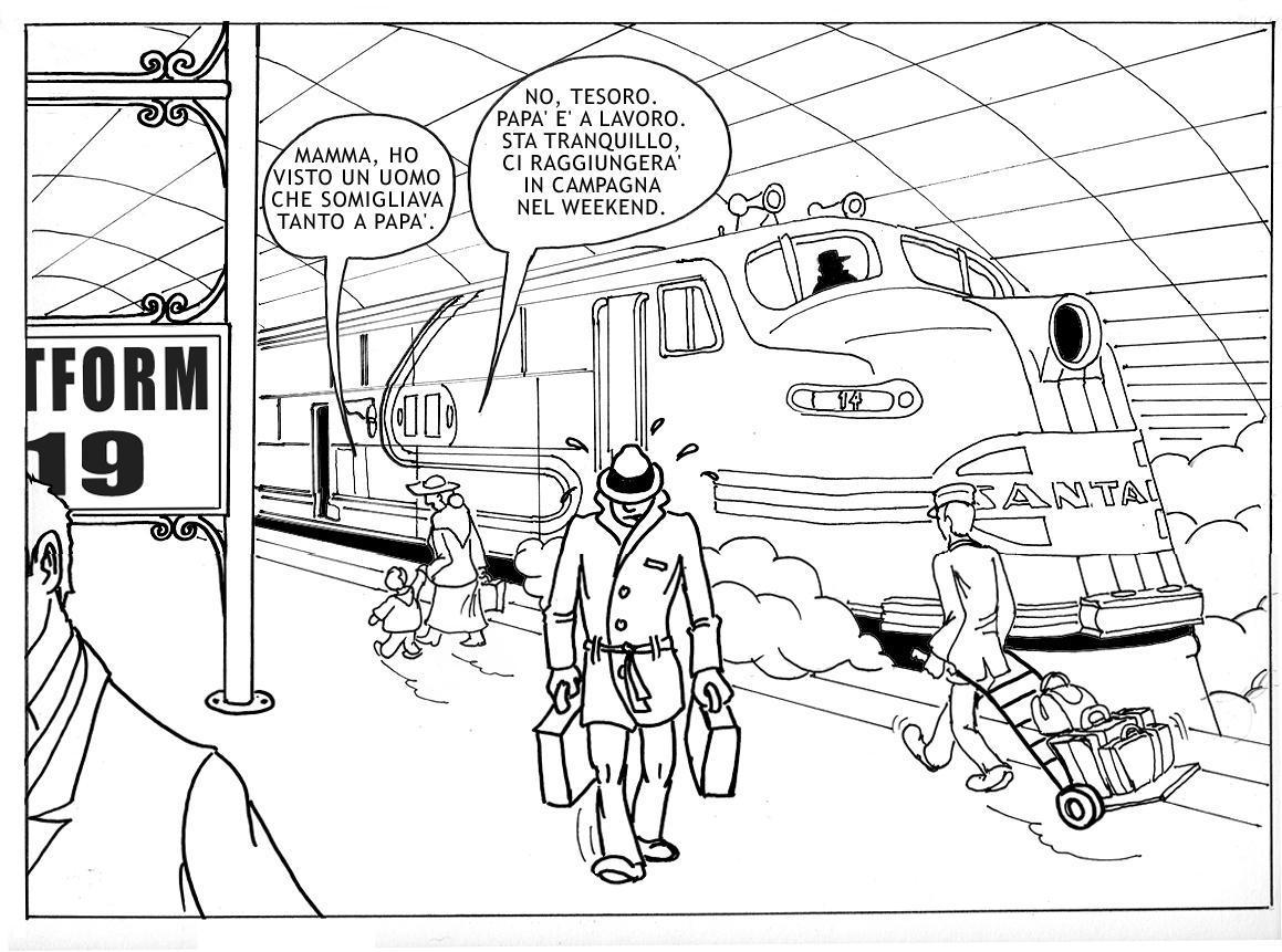 santas train coloring pages - photo#11