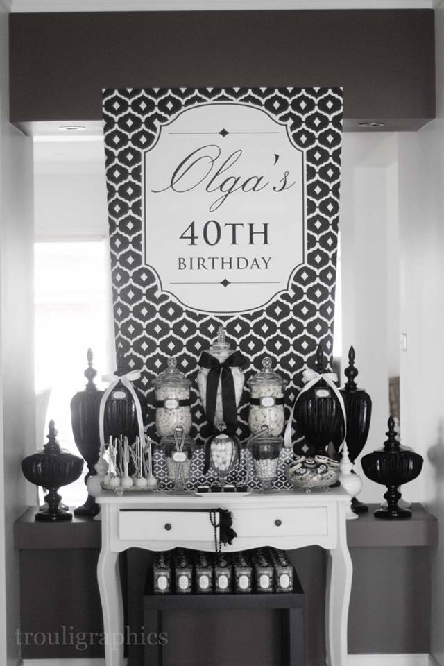 Little Big Company The Blog: Black and White Themed 40th ...