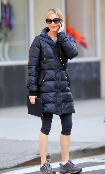 To be Party Queen: Movie stars can also be very stylish down jacket