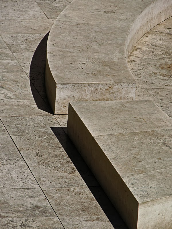 Stones and shadows at the Getty Museum