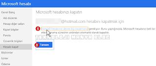 Hotmail outlook Hesabı Silme