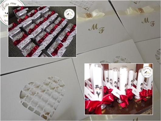 Convite de casamento caixa