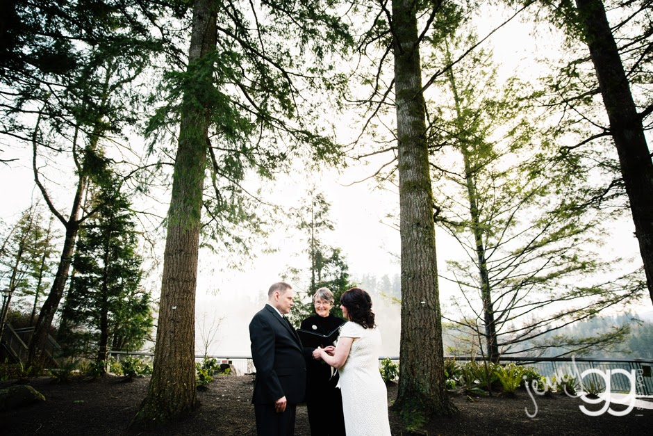 Intimate wedding of Linda and David on Centennial Greens - Posted by Patricia Stimac, Seattle Wedding Officiant