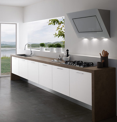 Contemporary kitchens without upper cabinets easy for Lifestyle kitchen units