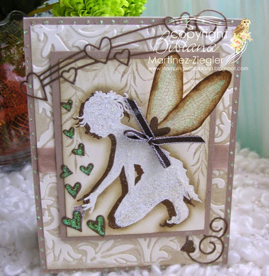 vintage card with Shaylee fairy