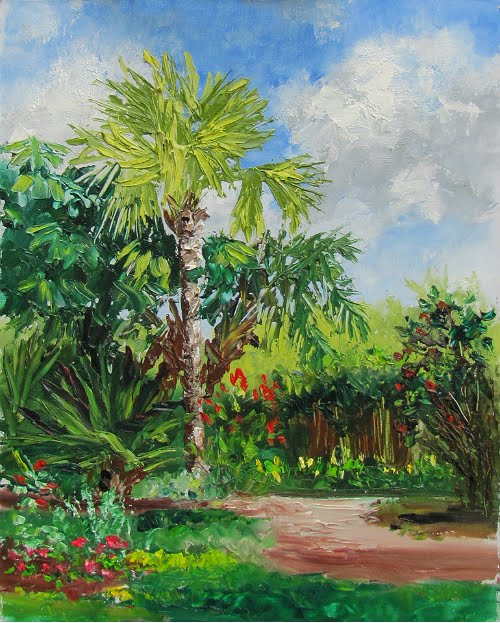 Lori 39 S Stormy Art And Daily Paintings Daily Painting 1363 Sold The Bismark Palm At Heathcote