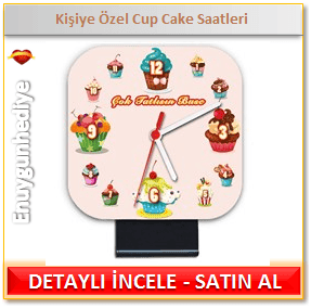 Kişiye Özel Cup Cake Saatleri
