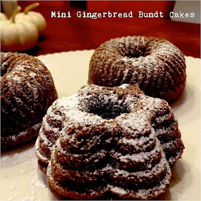Sugar Baby Bakes: Mini Gingerbread Bundt Cakes