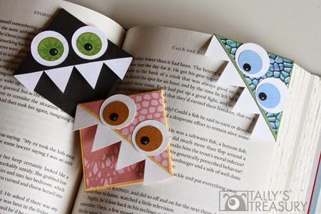 Hirviökirjanmerkki Monster bookmark