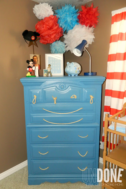 {The UNDONE Blog} Nautical Dresser Makeover