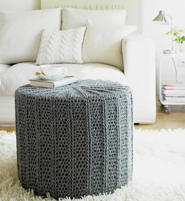 pouf tricot